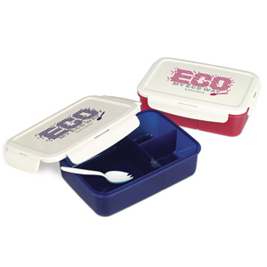 Easylock plastic lunch box with spoon   OF014